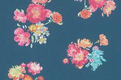 30273-1 cikkszámú tapéta.Természeti mintás,virágmintás,barna,bézs-drapp,fehér,kék,narancs-terrakotta,pink-rózsaszín,piros-bordó,sárga,zöld,súrolható,vlies tapéta