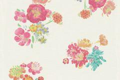 30273-2 cikkszámú tapéta.Természeti mintás,virágmintás,barna,bézs-drapp,fehér,kék,narancs-terrakotta,pink-rózsaszín,piros-bordó,türkiz,vajszín,zöld,súrolható,vlies tapéta