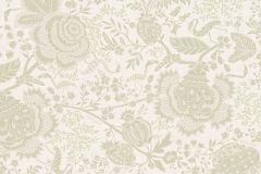 30275-2 cikkszámú tapéta.állatok,virágmintás,fehér,szürke,súrolható,vlies tapéta