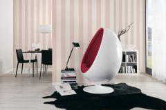 3113-13 cikkszámú tapéta.Csíkos,bézs-drapp,pink-rózsaszín,súrolható,illesztés mentes,vlies tapéta
