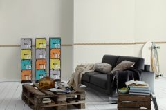 1190-25 cikkszámú tapéta.Természeti mintás,geometriai mintás,rajzolt,barna,narancs-terrakotta,szürke,anyagában öntapadós bordűr