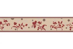 2588-23 cikkszámú tapéta.Különleges felületű,különleges motívumos,pöttyös,rajzolt,természeti mintás,barna,bézs-drapp,piros-bordó,anyagában öntapadós bordűr