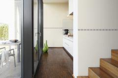 2822-24 cikkszámú tapéta.Geometriai mintás,konyha-fürdőszobai,különleges motívumos,rajzolt,barna,pink-rózsaszín,anyagában öntapadós bordűr