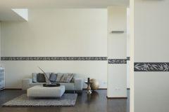 2941-42 cikkszámú tapéta.Konyha-fürdőszobai,különleges motívumos,rajzolt,barna,szürke,vlies bordűr