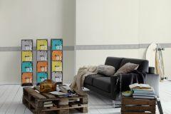 3197-84 cikkszámú tapéta.Egyszínű,konyha-fürdőszobai,kőhatású-kőmintás,különleges motívumos,rajzolt,természeti mintás,szürke,vlies bordűr