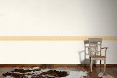 5241-33 cikkszámú tapéta.Egyszínű,konyha-fürdőszobai,rajzolt,virágmintás,narancs-terrakotta,vlies bordűr