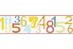 8956-15 cikkszámú tapéta.Csíkos,gyerek,pöttyös,rajzolt,retro,virágmintás,piros-bordó,sárga,zöld,anyagában öntapadós bordűr