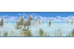 8990-19 cikkszámú tapéta.Absztrakt,gyerek,különleges motívumos,rajzolt,természeti mintás,bézs-drapp,fehér,kék,zöld,anyagában öntapadós bordűr