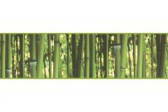 9036-17 cikkszámú tapéta.3d hatású,fotórealisztikus,konyha-fürdőszobai,különleges motívumos,természeti mintás,sárga,zöld,anyagában öntapadós bordűr