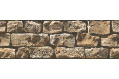 9058-19 cikkszámú tapéta.3d hatású,fotórealisztikus,konyha-fürdőszobai,kőhatású-kőmintás,különleges motívumos,természeti mintás,barna,narancs-terrakotta,anyagában öntapadós bordűr