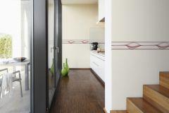 93477-1 cikkszámú tapéta.Absztrakt,csíkos,konyha-fürdőszobai,különleges motívumos,rajzolt,pink-rózsaszín,piros-bordó,vlies bordűr