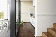 93477-3 cikkszámú tapéta.Csíkos,konyha-fürdőszobai,különleges motívumos,rajzolt,retro,barna,bézs-drapp,vlies bordűr