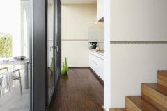 93691-1 cikkszámú tapéta.3d hatású,csíkos,geometriai mintás,konyha-fürdőszobai,különleges motívumos,rajzolt,barna,bézs-drapp,anyagában öntapadós bordűr
