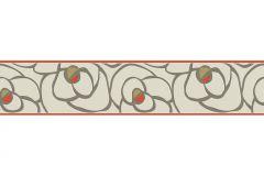 94026-1 cikkszámú tapéta.Gyerek,különleges motívumos,rajzolt,virágmintás,bézs-drapp,piros-bordó,vlies bordűr