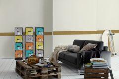 94026-4 cikkszámú tapéta.Egyszínű,konyha-fürdőszobai,különleges motívumos,rajzolt,virágmintás,barna,vlies bordűr