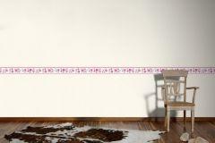 94127-3 cikkszámú tapéta.Gyerek,különleges motívumos,rajzolt,virágmintás,lila,pink-rózsaszín,szürke,vlies bordűr