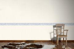 94348-2 cikkszámú tapéta.Konyha-fürdőszobai,különleges motívumos,rajzolt,természeti mintás,kék,szürke,vlies bordűr
