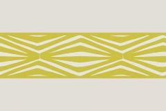 9438-28 cikkszámú tapéta.Geometriai mintás,konyha-fürdőszobai,különleges motívumos,rajzolt,retro,szürke,zöld,vlies bordűr