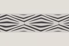 9438-42 cikkszámú tapéta.Geometriai mintás,konyha-fürdőszobai,különleges motívumos,rajzolt,retro,barna,bézs-drapp,vlies bordűr