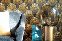 36310-6 cikkszámú tapéta.Különleges felületű,természeti mintás,arany,barna,súrolható,vlies tapéta