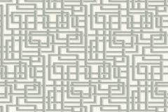 36312-1 cikkszámú tapéta.Absztrakt,textilmintás,fehér,szürke,súrolható,vlies tapéta