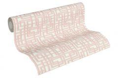 36312-2 cikkszámú tapéta.Absztrakt,textilmintás,fehér,pink-rózsaszín,szürke,súrolható,vlies tapéta