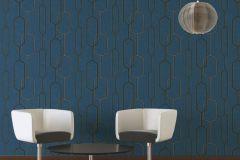 36314-1 cikkszámú tapéta.Absztrakt,különleges felületű,arany,ezüst,fekete,kék,súrolható,vlies tapéta