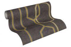 36314-2 cikkszámú tapéta.Absztrakt,különleges felületű,arany,barna,ezüst,súrolható,vlies tapéta