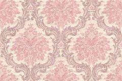 36716-2 cikkszámú tapéta.Barokk-klasszikus,különleges felületű,textilmintás,bézs-drapp,pink-rózsaszín,lemosható,vlies tapéta