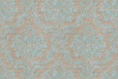 36716-4 cikkszámú tapéta.Barokk-klasszikus,különleges felületű,textilmintás,barna,kék,lemosható,vlies tapéta