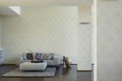 36716-8 cikkszámú tapéta.Barokk-klasszikus,különleges felületű,textilmintás,fehér,vajszín,lemosható,vlies tapéta