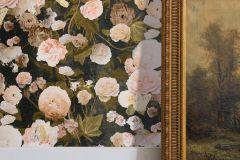 36717-1 cikkszámú tapéta.Különleges felületű,textilmintás,virágmintás,barna,bézs-drapp,narancs-terrakotta,pink-rózsaszín,szürke,vajszín,zöld,lemosható,vlies tapéta