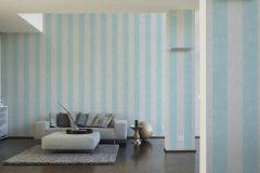 36718-3 cikkszámú tapéta.Csíkos,különleges felületű,textilmintás,kék,szürke,lemosható,illesztés mentes,vlies tapéta