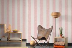 36718-4 cikkszámú tapéta.Csíkos,különleges felületű,textilmintás,bézs-drapp,pink-rózsaszín,lemosható,illesztés mentes,vlies tapéta