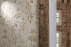 36719-2 cikkszámú tapéta.Konyha-fürdőszobai,különleges felületű,természeti mintás,textilmintás,lila,sárga,szürke,zöld,lemosható,vlies tapéta