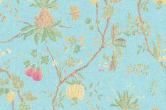 36719-5 cikkszámú tapéta.Konyha-fürdőszobai,különleges felületű,természeti mintás,textilmintás,bézs-drapp,kék,pink-rózsaszín,zöld,lemosható,vlies tapéta