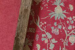 36719-6 cikkszámú tapéta.Konyha-fürdőszobai,különleges felületű,természeti mintás,textilmintás,bézs-drapp,piros-bordó,sárga,zöld,lemosható,vlies tapéta