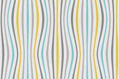 35597-2 cikkszámú tapéta.3d hatású,absztrakt,csíkos,különleges felületű,különleges motívumos,rajzolt,retro,narancs-terrakotta,sárga,szürke,súrolható,vlies tapéta