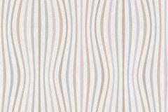 35597-3 cikkszámú tapéta.3d hatású,absztrakt,csíkos,geometriai mintás,különleges felületű,különleges motívumos,rajzolt,retro,barna,bronz,szürke,súrolható,vlies tapéta