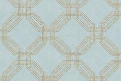 37477-2 cikkszámú tapéta.Geometriai mintás,különleges motívumos,türkiz,lemosható,vlies tapéta