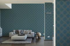 37477-3 cikkszámú tapéta.Geometriai mintás,különleges motívumos,türkiz,zöld,lemosható,vlies tapéta