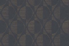 37478-1 cikkszámú tapéta.Geometriai mintás,különleges motívumos,arany,barna,lemosható,vlies tapéta
