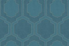 37479-4 cikkszámú tapéta.Geometriai mintás,különleges motívumos,türkiz,zöld,lemosható,vlies tapéta