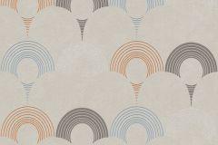 37480-3 cikkszámú tapéta.3d hatású,geometriai mintás,különleges motívumos,bézs-drapp,kék,sárga,vajszín,lemosható,vlies tapéta