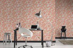 37481-1 cikkszámú tapéta.3d hatású,absztrakt,geometriai mintás,különleges motívumos,bézs-drapp,narancs-terrakotta,pink-rózsaszín,vajszín,lemosható,vlies tapéta
