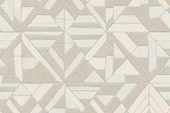 37481-2 cikkszámú tapéta.3d hatású,absztrakt,geometriai mintás,különleges motívumos,fehér,szürke,vajszín,lemosható,vlies tapéta