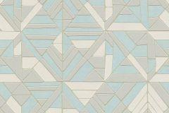 37481-3 cikkszámú tapéta.3d hatású,absztrakt,geometriai mintás,különleges motívumos,fehér,kék,szürke,lemosható,vlies tapéta