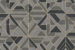 37481-4 cikkszámú tapéta.3d hatású,absztrakt,geometriai mintás,különleges motívumos,fekete,szürke,lemosható,vlies tapéta