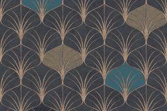 37483-3 cikkszámú tapéta.3d hatású,geometriai mintás,különleges motívumos,bronz,fekete,kék,lemosható,vlies tapéta