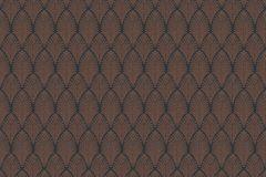 37484-2 cikkszámú tapéta.3d hatású,geometriai mintás,különleges motívumos,barna,bronz,lemosható,vlies tapéta